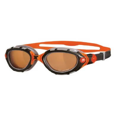 عینک شنا زاگز مدل Predator Flex Polarized Ultra - Orange/Black سایز 8